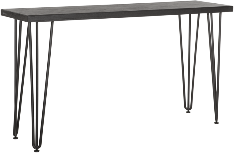MUST LIVING Side Table Blackbird Zwart 140 cm