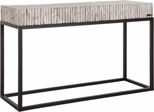 Afbeelding van MUST LIVING Side Table Stick White Wash 120 cm