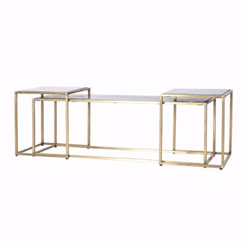 Afbeeldingen van By Boo Caesar Side-Table Set Groen IJzer