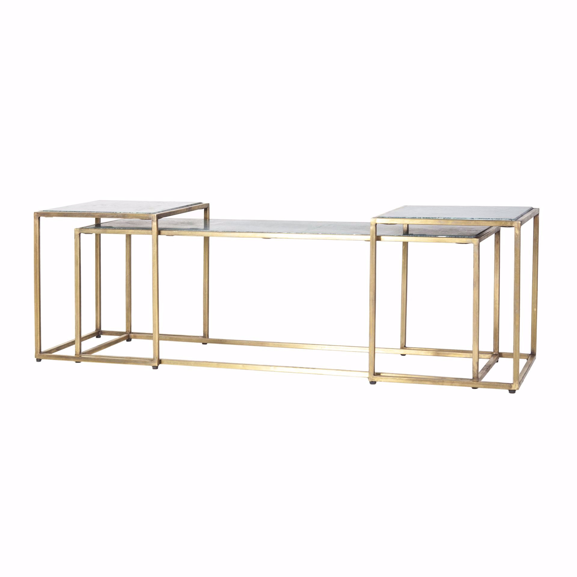 By Boo Caesar Side Table Set Groen IJzer