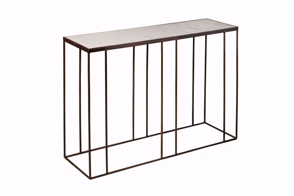 Afbeelding van Tower Living Console Side table 103 cm marmer