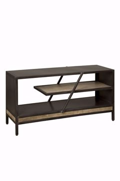 Afbeeldingen van Tower Living Renew Iron TV Meubel 120 cm Naturel Mango
